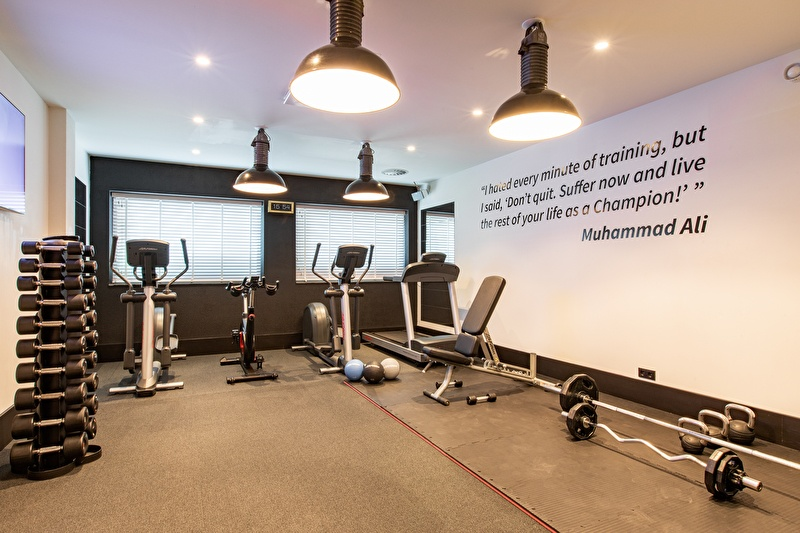 Trainieren Sie im Fitnessstudio